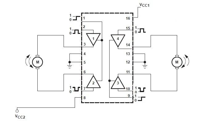 l293d puente h para motores robotica domotica arduino